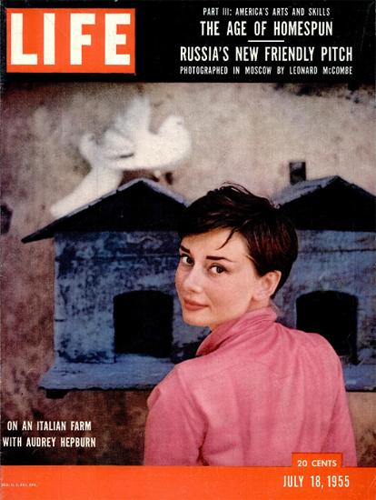 Audrey Hepburn on an Italian Farm 18 Jul 1955 Copyright Life Magazine | Life Magazine Color Photo Covers 1937-1970