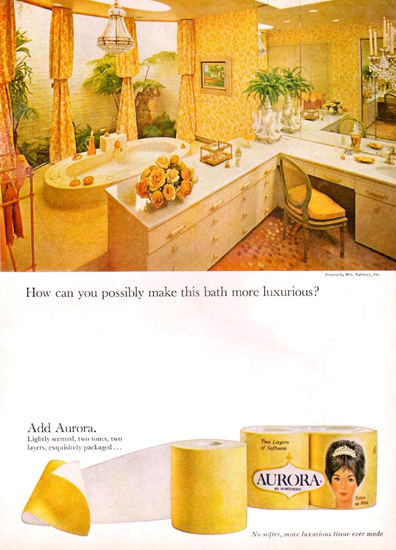 Aurora Toilet Paper 1965 | Vintage Ad and Cover Art 1891-1970