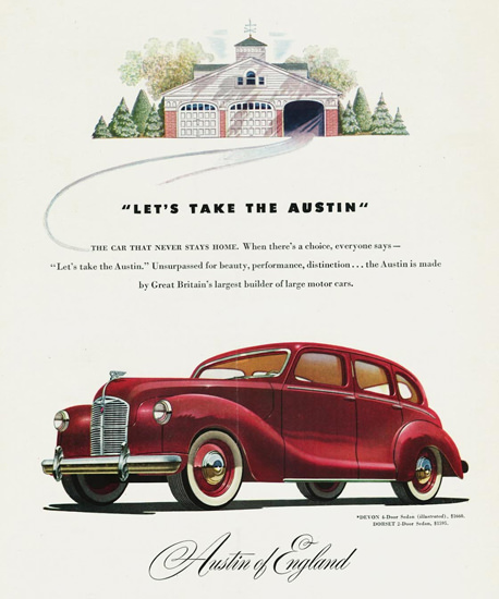 Austin Devon 4 Door Sedan 1948 | Vintage Cars 1891-1970