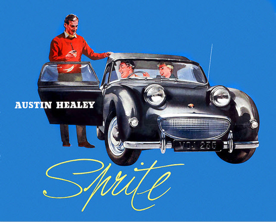 Austin Healey Sprite Mark 1 Model 1958 Black | Vintage Cars 1891-1970