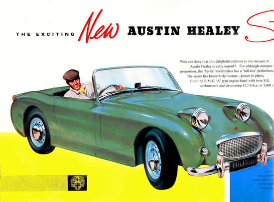 Austin Healey Sprite Mark 1 Model 1958 Green | Vintage Cars 1891-1970