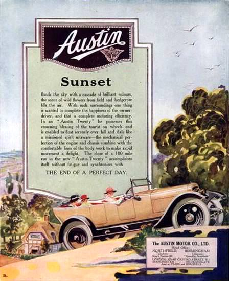 Austin Motor Co Ltd Sunset 1919 | Vintage Cars 1891-1970