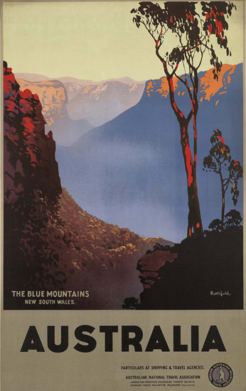 Australia Blue Mountains New South Wales 1930s | Vintage Travel Posters 1891-1970