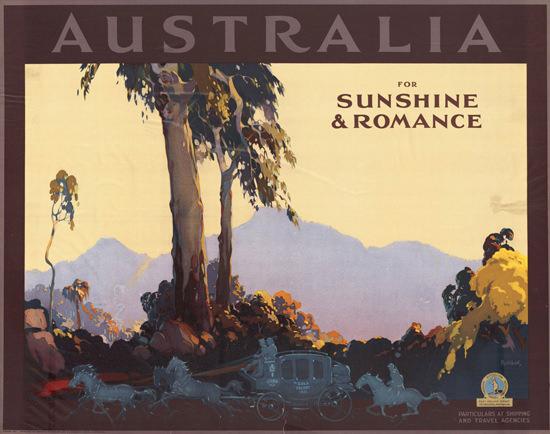 Australia For Sunshine Romance 1936 | Vintage Travel Posters 1891-1970
