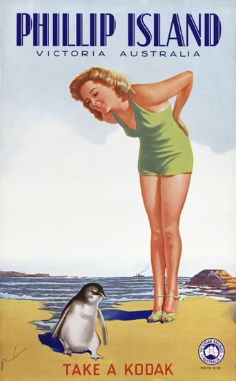 Australia Phillip Island Victoria Kodak 1930s | Sex Appeal Vintage Ads and Covers 1891-1970