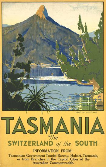Australia Tasmania Switzerland Of South 1930s | Vintage Travel Posters 1891-1970