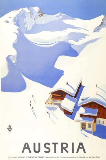 Austria 1935 Snow Mountains   Vintage Travel Posters 1891-1970
