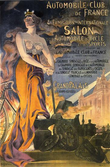 Automobile Club De France Salon Int Paris 1901 | Sex Appeal Vintage Ads and Covers 1891-1970