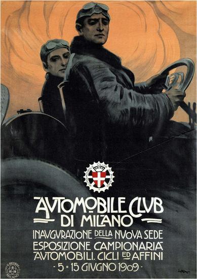 Automobile Club Di Milano Italia 1909 Italy | Vintage Cars 1891-1970