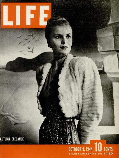 Autumn Elegance 9 Oct 1944 Copyright Life Magazine | Life Magazine BW Photo Covers 1936-1970