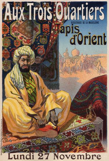 Aux Trois Quartiers Tapis D Orient Carpets | Vintage Ad and Cover Art 1891-1970