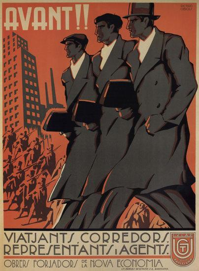 Avant Viatjants Corredors Spain Espana | Vintage War Propaganda Posters 1891-1970