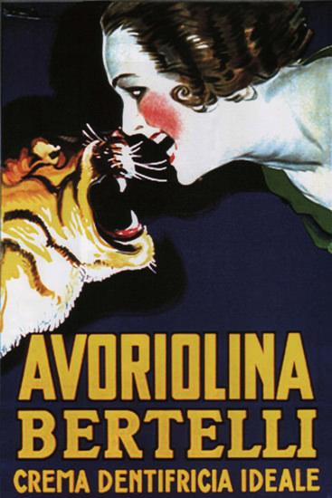 Avoriolina Bertelli Crema Dentifricia Italia | Sex Appeal Vintage Ads and Covers 1891-1970