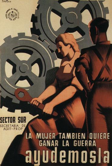 Ayudemosla Spain Espana | Vintage War Propaganda Posters 1891-1970