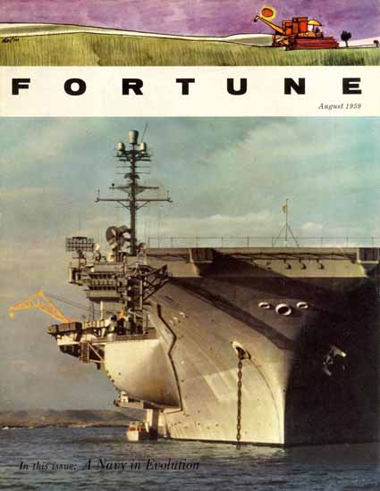 B Gallagher USS Independence Fortune Magazine August 1959 Copyright | Fortune Magazine Graphic Art Covers 1930-1959