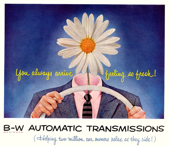 B-W Automatic Transmissions Flower | Vintage Cars 1891-1970