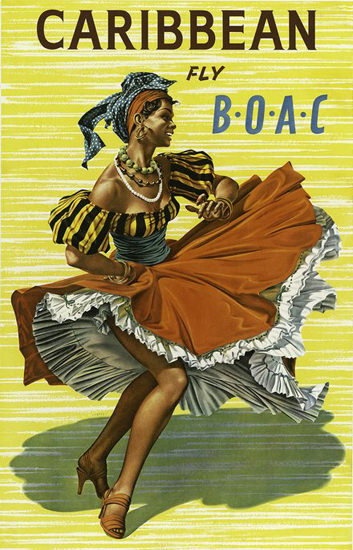 BOAC Caribbean Dancer | Sex Appeal Vintage Ads and Covers 1891-1970