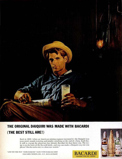 Bacardi Daiquiri 1965 | Sex Appeal Vintage Ads and Covers 1891-1970