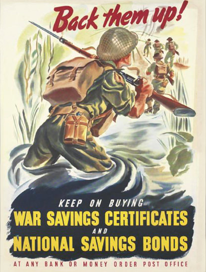 Back Them Up Keep On Buying War Certificates | Vintage War Propaganda Posters 1891-1970