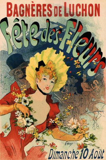 Bagneres De Luchon Fete Des Fleurs France | Sex Appeal Vintage Ads and Covers 1891-1970