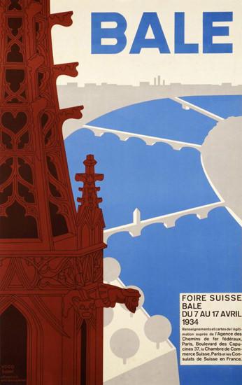 Bale Foire Suisse Switzerland 1934 Basel Fair | Vintage Travel Posters 1891-1970