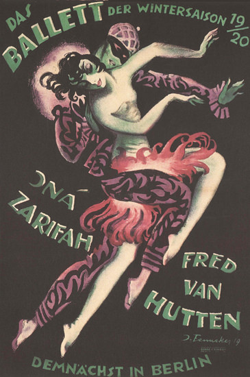 Ballett Berlin 1920 Jna Zarifah Fred Van Hutten | Sex Appeal Vintage Ads and Covers 1891-1970