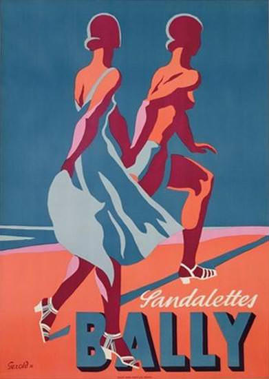 Bally Sandalettes 1935 Switzerland | Sex Appeal Vintage Ads and Covers 1891-1970