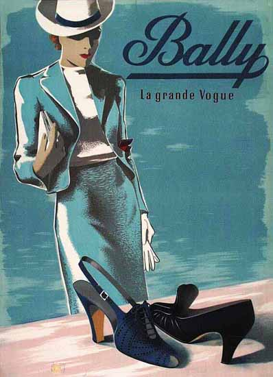 Bally Shoes Ad La Grande Vogue Switzerland Sex Appeal | Sex Appeal Vintage Ads and Covers 1891-1970