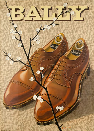 Bally Shoes Switzerland 1946   Vintage Ad and Cover Art 1891-1970
