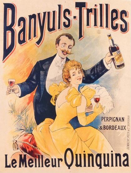 Banyuls-Trilles Meilleur Quinquina 1898 Perpignan | Sex Appeal Vintage Ads and Covers 1891-1970
