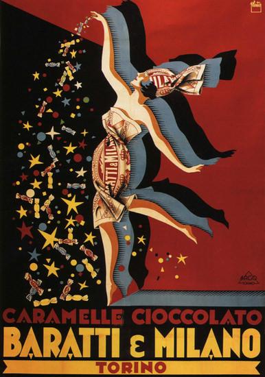 Baratti Milano Caramelle Cioccolato Torino Italia | Sex Appeal Vintage Ads and Covers 1891-1970