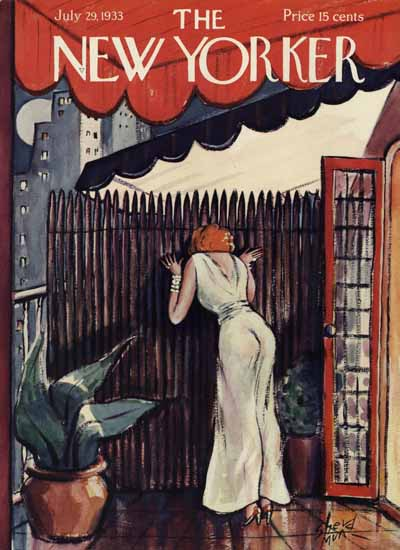 Barbara Shermund The New Yorker 1933_07_29 Copyright | The New Yorker Graphic Art Covers 1925-1945