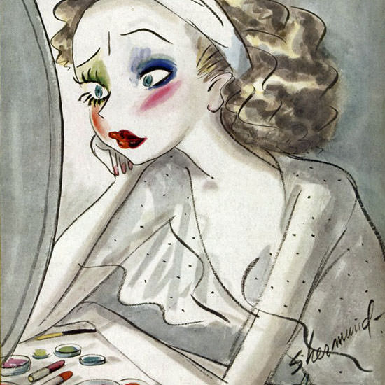 Barbara Shermund The New Yorker 1939_03_18 Copyright crop | Best of Vintage Cover Art 1900-1970