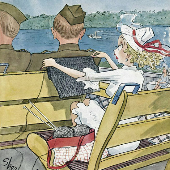 Barbara Shermund The New Yorker 1941_09_06 Copyright crop | Best of 1940s Ad and Cover Art