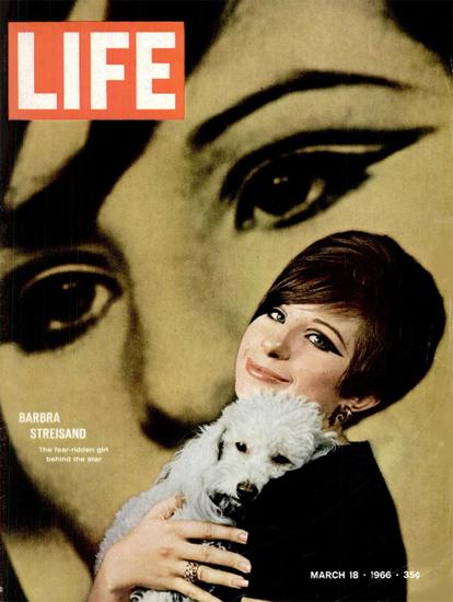 Barbara Streisand as Funny Girl 18 Mar 1966 Copyright Life Magazine | Life Magazine Color Photo Covers 1937-1970