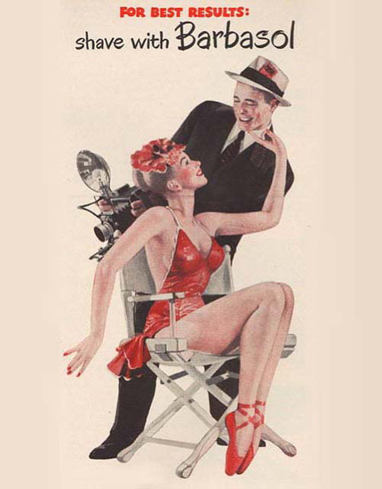 Barbasol Shaving Cream Pin-Up Girl Photographer | Sex Appeal Vintage Ads and Covers 1891-1970