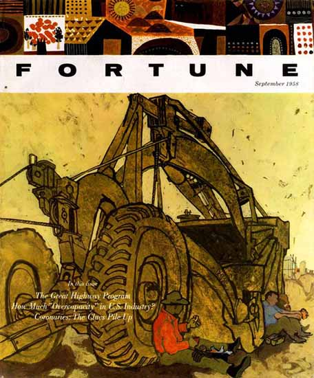 Barry Geller Fortune Magazine September 1958 Copyright | Fortune Magazine Graphic Art Covers 1930-1959