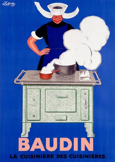 Baudin Cuisiniere Cooking Stove L Cappiello | Vintage Ad and Cover Art 1891-1970