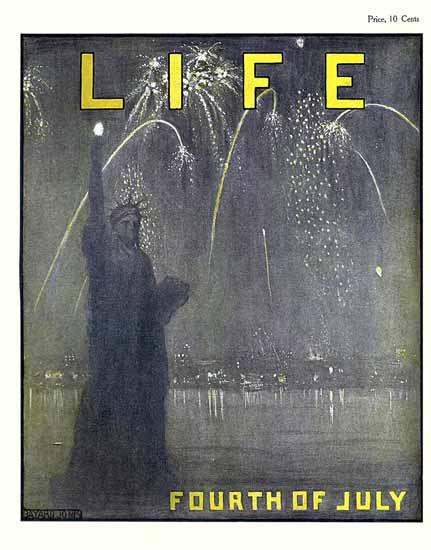 Bayard Jones Life Magazine Liberty 1905-07-06 Copyright | Life Magazine Graphic Art Covers 1891-1936