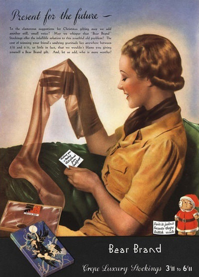 Bear Brand Luxury Stockings | Sex Appeal Vintage Ads and Covers 1891-1970