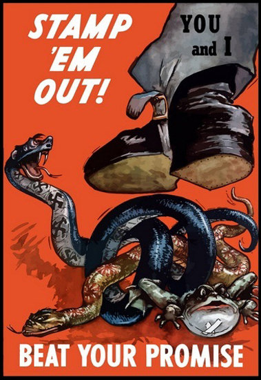 Beat You Promise Stamp Em Out You And I | Vintage War Propaganda Posters 1891-1970