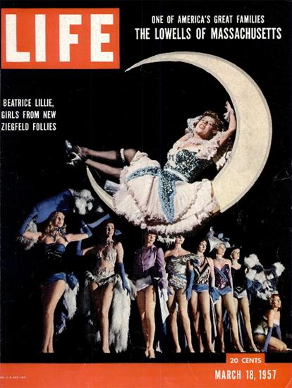 Beatrice Lillie Ziegfeld Follies 18 Mar 1957 Copyright Life Magazine | Life Magazine Color Photo Covers 1937-1970