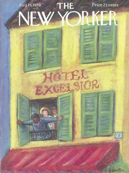 Beatrice Szanton The New Yorker 1959_08_15 Copyright | The New Yorker Graphic Art Covers 1946-1970