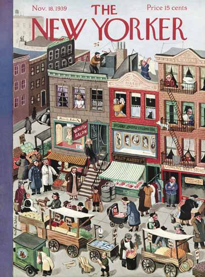 Beatrice Tobias The New Yorker 1939_11_18 Copyright | The New Yorker Graphic Art Covers 1925-1945