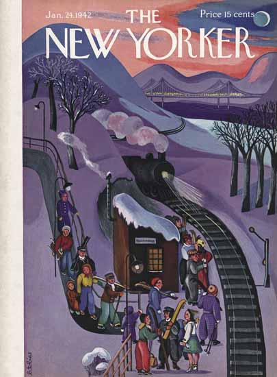 Beatrice Tobias The New Yorker 1942_01_24 Copyright | The New Yorker Graphic Art Covers 1925-1945