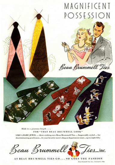 Beau Brummell Ties Magnificent Possession | Vintage Ad and Cover Art 1891-1970