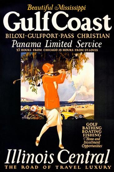 Beautiful Mississippi Gulf Coast Illinois Panama | Vintage Travel Posters 1891-1970