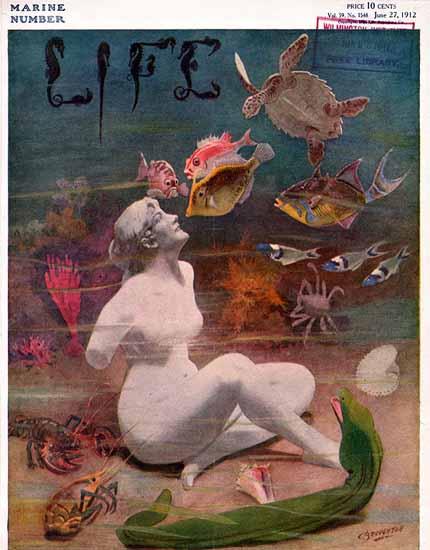 Beauty of the Sea Life Humor Magazine 1912-06-27 Copyright | Life Magazine Graphic Art Covers 1891-1936