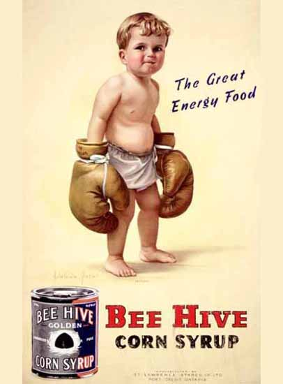 Bee Hive Corn Syrup Ad   Vintage Ad and Cover Art 1891-1970