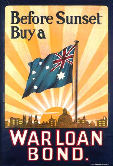 Before Sunset Buy A War Loan Bond | Vintage War Propaganda Posters 1891-1970